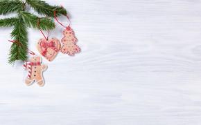 Картинка елка, Новый Год, печенье, Рождество, wood, Merry Christmas, Xmas, cookies, decoration, пряники, gingerbread