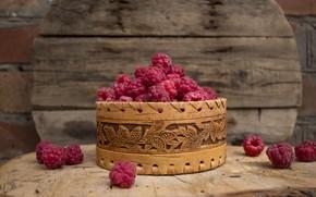Картинка ягоды, малина, еда