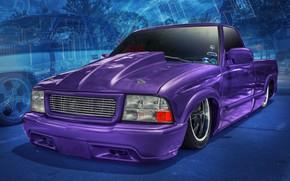 Картинка дизайн, фон, автомобиль, Slammed S10