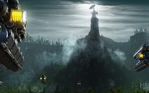 Картинка лес, антенна, крепость, citadel mesa, Surprise attack