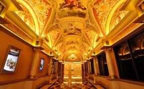 Обои коридор, Лас-Вегас, США, отель, казино
