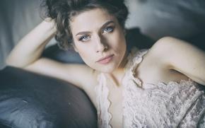 Картинка взгляд, девушка, лицо, модель, портрет, Maria Celeste