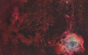Обои космос, звезды, пространство, Rosette Nebula