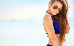 Картинка smile, bikini, sunglasses