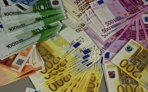 Картинка деньги, евро, валюта, купюры, euro