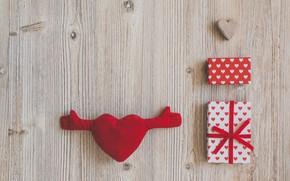 Картинка любовь, Love, подарки, сердечки, heart, wood, romantic, gift, celebration, Valentines's Day
