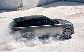 Обои Land Rover, Range Rover, Sand, 2017, Velar