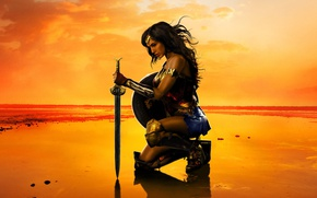 Обои Armor, Film, EXCLUSIVE, Bracelets, Female, DC Comics, Batman v Superman: Dawn of Justice, Movie, Dawn ...