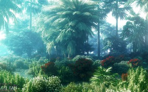 Картинка природа, тропики, растительность, водоём, jungle book elephants