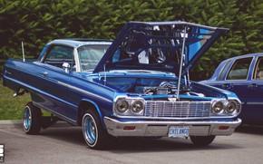 Картинка car, Chevrolet, lowrider, blue, Impala
