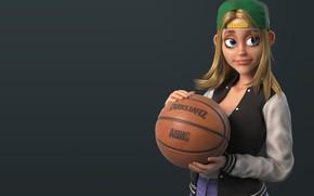 Картинка мяч, арт, баскетбол, basketball, девчушка, The Jungle Bunch !, Dr Zenith