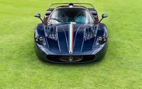 Картинка гиперкар, Maserati MC12, Blue carbon