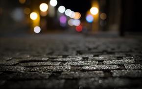 Обои город, ночь, улица, огни