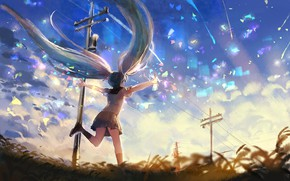 Картинка природа, Hatsune Miku, Vocaloid, sishenfan