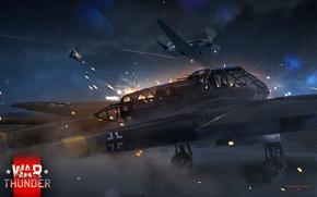 Картинка Война, Атака, War Thunder, Як-3, Fw-189