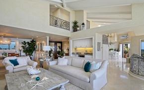 Картинка диван, кухня, особняк, Design, гостиная, room, Living