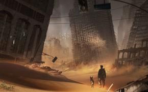 Картинка город, разрушения, sable, city sand 2