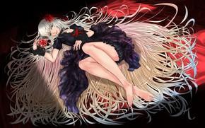 Картинка девушка, волосы, аниме