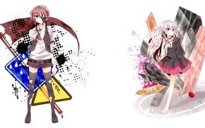 Картинка стиль, аниме, арт, белый фон, Vocaloid, Вокалоид, персонажи
