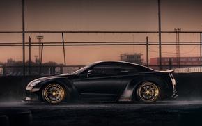 Картинка сетка, GTR, Nissan, wheels, black, tuning
