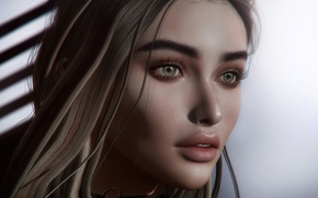 Картинка глаза, взгляд, губы, милашка