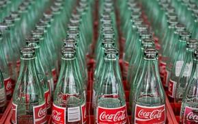 Картинка макро, бутылки, coc cola