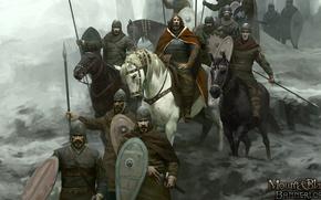 Картинка sword, armor, weapon, man, army, ken, Mount & Blade, blade, horse, shield, warrior, king, helmet, ...