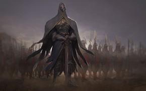 Картинка меч, воин, маска
