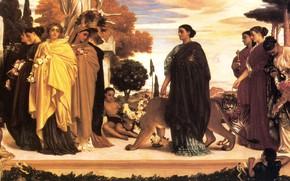 Картинка тигр, древность, античность, гепарды, Frederic Leighton, The Syracusan Bride
