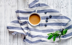 Картинка ягоды, кофе, завтрак, черника, coffee cup, какао, breakfast