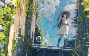 Картинка природа, растения, девочка