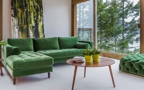 Картинка интерьер, гостиная, светлая комната