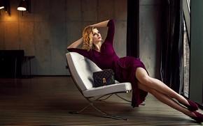 Картинка девушка, поза, стиль, платье, ножки, Damian Piórko