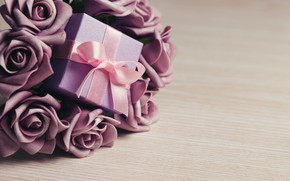 Картинка цветы, flowers, Valentine's Day, любовь, gift, розы, romantic, roses, love, violet