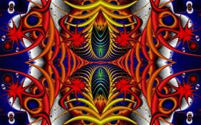 Картинка фантазия, фигуры, симметрия