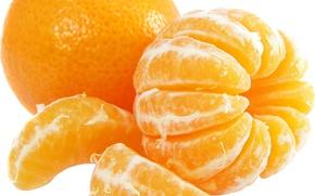 Обои апельсин, цитрус, макро, долька
