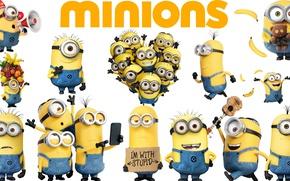 Картинка yellow, animated film, Minions, Despicable Me 2, Despicable Me, Minion, Dave, animated movie, Bob, Despicable ...