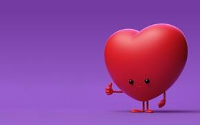 Картинка рендеринг, настроение, сердце, арт, AJ Jefferies, Happy Valentine's!