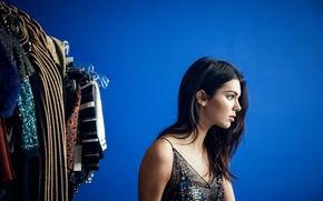 Картинка Kendall Jenner, профиль, модель, брюнетка
