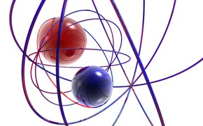 Картинка фон, шары, нитки