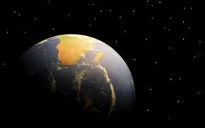 Обои Земля, звезды, планета, Африка, Мадагаскар