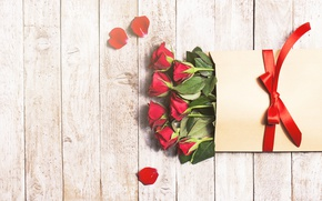 Обои красные розы, бутоны, valentine`s day, love, roses, лепестки, romantic, gift, розы, red, flowers