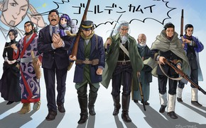 Картинка группа, аниме, персонажи, Golden Kamuy