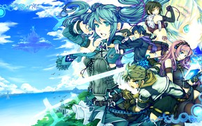 Картинка фентези, Vocaloid, Вокалоид, персонажи