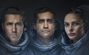 Обои Film, Travel, LIFE, Thriller, 2017, Galaxy, Men, Sony Pictures, Ryan Reynolds, Jake Gyllenhaal, Columbia Pictures, ...