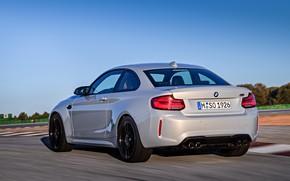 Картинка движение, купе, трасса, BMW, вид сзади, 2018, F87, M2, M2 Competition