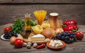 Картинка сыр, овощи, пряности, булочки, cheese, vegetables, паста, spices, buns, pasta