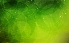 Обои абстракция, фон, green, Abstract, circles, background, dots
