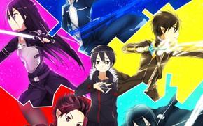 Картинка light, weapon, anime, pretty, asian, warrior, manga, japanese, Sword Art Online, Kirito, oriental, asiatic, sugoi, …