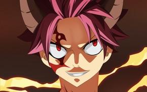 Картинка Fairy Tail, аниме, Нацу Драгнил, арт, Хвост феи